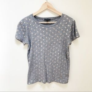 j.crew Metallic stars T-shirt short sleeves M